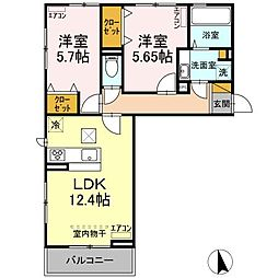 D-roomちはら台H 3階12LDKの間取り