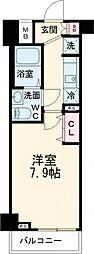 GENOVIA練馬春日町 skygarden 1階1Kの間取り