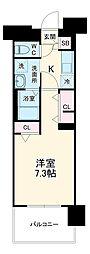 名古屋市営東山線 上社駅 徒歩3分の賃貸マンション 9階1Kの間取り
