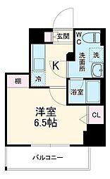 京急本線 京急川崎駅 徒歩6分の賃貸マンション 6階1Kの間取り