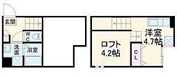 JR武蔵野線 東浦和駅 徒歩12分の賃貸アパート 1階ワンルームの間取り