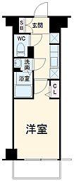 N-stage Fujisawa 5階1Kの間取り