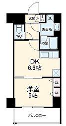 ベラジオ京都西院ウエストシティIII 2階1DKの間取り