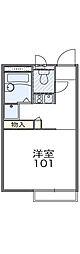 JR高崎線 北本駅 バス8分 二ツ家下車 徒歩3分の賃貸アパート 1階1Kの間取り