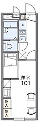JR鹿児島本線 春日駅 徒歩12分の賃貸アパート 2階1Kの間取り