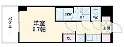 S-RESIDENCE熱田 6階1Kの間取り