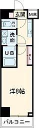 (仮称)レオーネ台東三ノ輪 8階1Kの間取り
