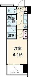 ガーラ・シティ品川西大井 7階1Kの間取り