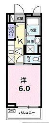 JR中央線 東小金井駅 徒歩5分の賃貸アパート 3階1Kの間取り
