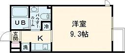 ALERO Takadanobaba Terrace 2階1Kの間取り