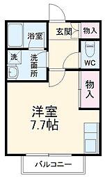 SKビル六番館 6階ワンルームの間取り