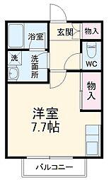 SKビル六番館 3階ワンルームの間取り