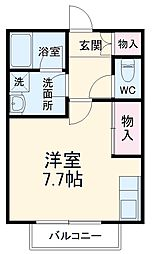 SKビル六番館 5階ワンルームの間取り