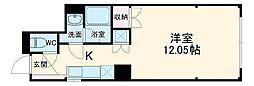 石川町114 3階ワンルームの間取り