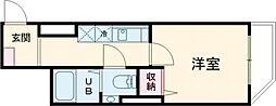DEAR ECLASS TORITSUDAI 4階1Kの間取り