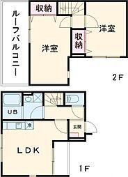 DEAR ECLASS TORITSUDAI 4階2LDKの間取り