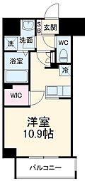 前島1丁目116マンション(仮称) 5階ワンルームの間取り