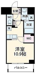 前島1丁目116マンション(仮称) 11階ワンルームの間取り