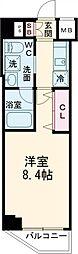 東京メトロ有楽町線 氷川台駅 徒歩9分の賃貸マンション 1階1Kの間取り