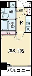レアライズ高田馬場 8階1Kの間取り