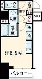 RELUXIA品川西大井 7階1Kの間取り