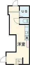TRアーバンプレイス高田馬場I 2階ワンルームの間取り