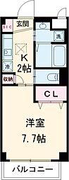 小田急小田原線 町田駅 徒歩12分の賃貸マンション 1階1Kの間取り