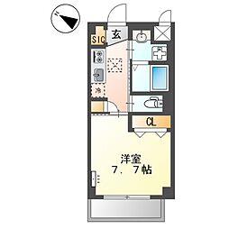 小田急小田原線 町田駅 徒歩12分の賃貸マンション 2階1Kの間取り