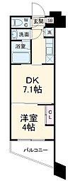ガーラ・グランディ武蔵小杉 3階1DKの間取り