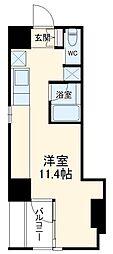 名鉄豊田線 浄水駅 徒歩5分の賃貸マンション 5階ワンルームの間取り