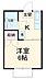 間取り,1K,面積19.44m2,賃料4.5万円,JR埼京線 武蔵浦和駅 徒歩10分,JR埼京線 中浦和駅 徒歩6分,埼玉県さいたま市南区鹿手袋3丁目