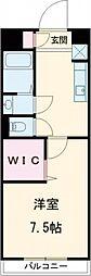 西武池袋線 秋津駅 徒歩3分の賃貸マンション 3階1Kの間取り