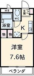 名鉄常滑線 聚楽園駅 徒歩20分の賃貸アパート 1階1Kの間取り