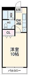 JR東海道本線 浜松駅 バス45分 静光園入口下車 徒歩8分の賃貸マンション 1階1Kの間取り