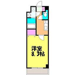 JR常磐線 新松戸駅 徒歩10分の賃貸マンション 1階1Kの間取り