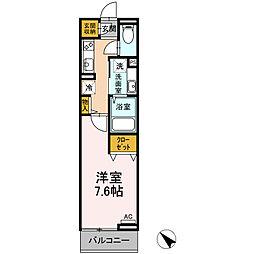 JR中央線 豊田駅 徒歩15分の賃貸アパート 3階1Kの間取り