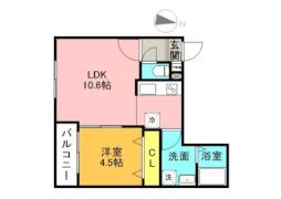Leia札幌 4階1LDKの間取り