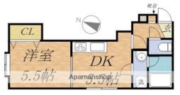 ステージN20II 2階1DKの間取り