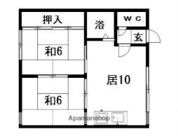 札幌市営東豊線 福住駅 バス13分 北野3-5下車 徒歩3分の賃貸アパート 2階2LDKの間取り