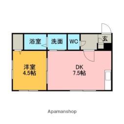 札幌市営南北線 真駒内駅 バス10分 南34西11下車 徒歩3分の賃貸アパート 1階1DKの間取り