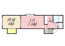 札幌市営南北線 幌平橋駅 徒歩8分の賃貸アパート 2階1LDKの間取り