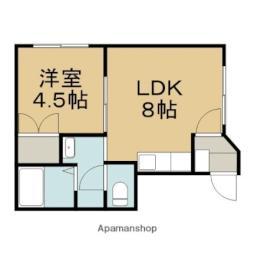とまとハウス 1階1LDKの間取り