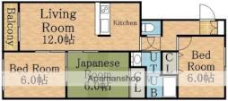 札幌市営東豊線 環状通東駅 バス12分 東営業所下車 徒歩2分の賃貸マンション 4階3DKの間取り