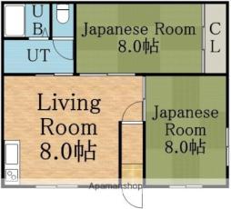 札幌市営東豊線 環状通東駅 バス10分 東営業所下車 徒歩2分の賃貸アパート 2階2DKの間取り