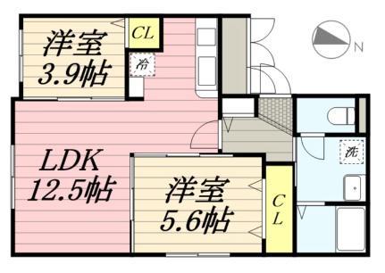 DPレジデンス麻生(A棟)[1階]の間取り