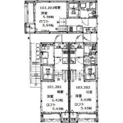 セレーナ仙台ウーノ 2階1Kの間取り