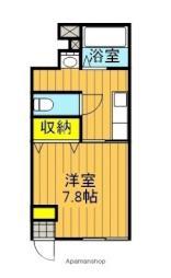 JR東北本線 安積永盛駅 徒歩24分の賃貸アパート 1階1Kの間取り