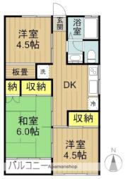 C.YAMANAKA 2階3DKの間取り
