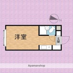 ハイツ西田 1階ワンルームの間取り