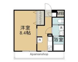 東武東上線 鶴ヶ島駅 徒歩10分の賃貸マンション 1階1Kの間取り